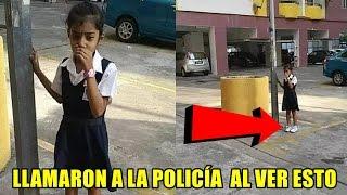 Hombre vio a la niña cerca del poste, pero luego miró su pierna e inmediatamente llamó a la policía