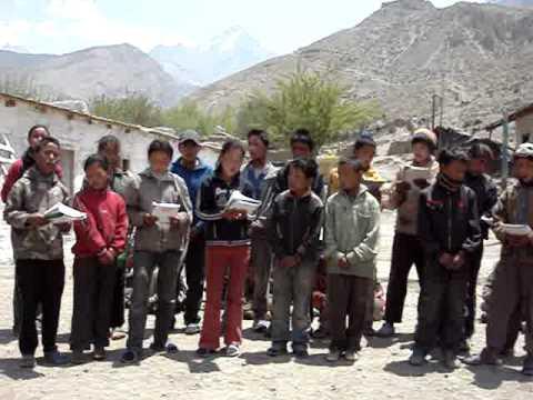 Older Lupra Schoolchildren Singing