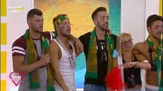 Concorrentes cantam Hino Nacional antes do Portugal - País de Gales