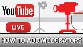How to put moderator on your live stream