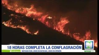 Gigantesco incendio consumió  la ladera del cerro de Cristo Rey en Cali