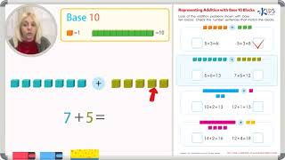 Representing Addition with Base Ten Blocks
