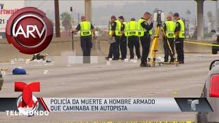 Policía de California dio muerte a un hombre sospechoso | Al Rojo Vivo | Telemundo