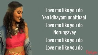 Ellie Goulding - Love Me Like You Do | Hosanna (Vidya Vox Mashup Cover)(Lyrics)