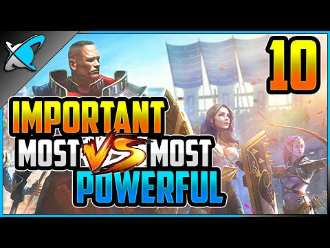 """My Top 10 Most """"POWERFUL vs IMPORTANT"""" Champions 