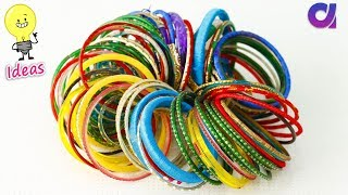 How to reuse old bangles at home | Best out of waste | Artkala 360 width=