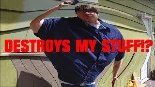 Psycho Dad Destroys Xbox One Controller | Parody |