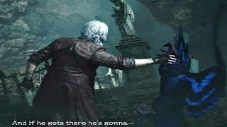 Devil May Cry 5 - Dante Wakes Up & Chokes V's Griffon Cutscene