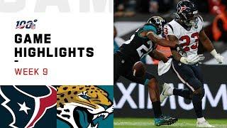 Texans vs. Jaguars Week 9 Highlights   NFL 2019