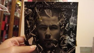 Signed Nick Jonas Last Year Was Complicated CD Insert Unboxing!