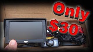 Install a Rear View Reverse Backup Camera for only $30! width=
