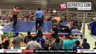 Blue Demon y Triton triunfan en el Cicero Stadium contra Canek Jr y Utamaro