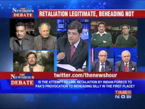 The Newshour Debate: Is the Indian Govt going soft on Pak? (Part 1 of 4)