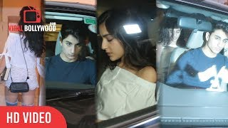 Sara Ali Khan With Brother Ibrahim Khan At Saif Ali Khan's Birthday | Saif Ali Khan's Birthday Bash