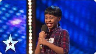 Asanda Jezile the 11yr old diva sings 'Diamonds' - Week 3 Auditions | Britain's Got Talent 2013 width=