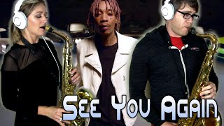 SEE YOU AGAIN - Wiz Khalifa - Alto & Tenor Sax Cover - BriansThing & Mandy Faddis