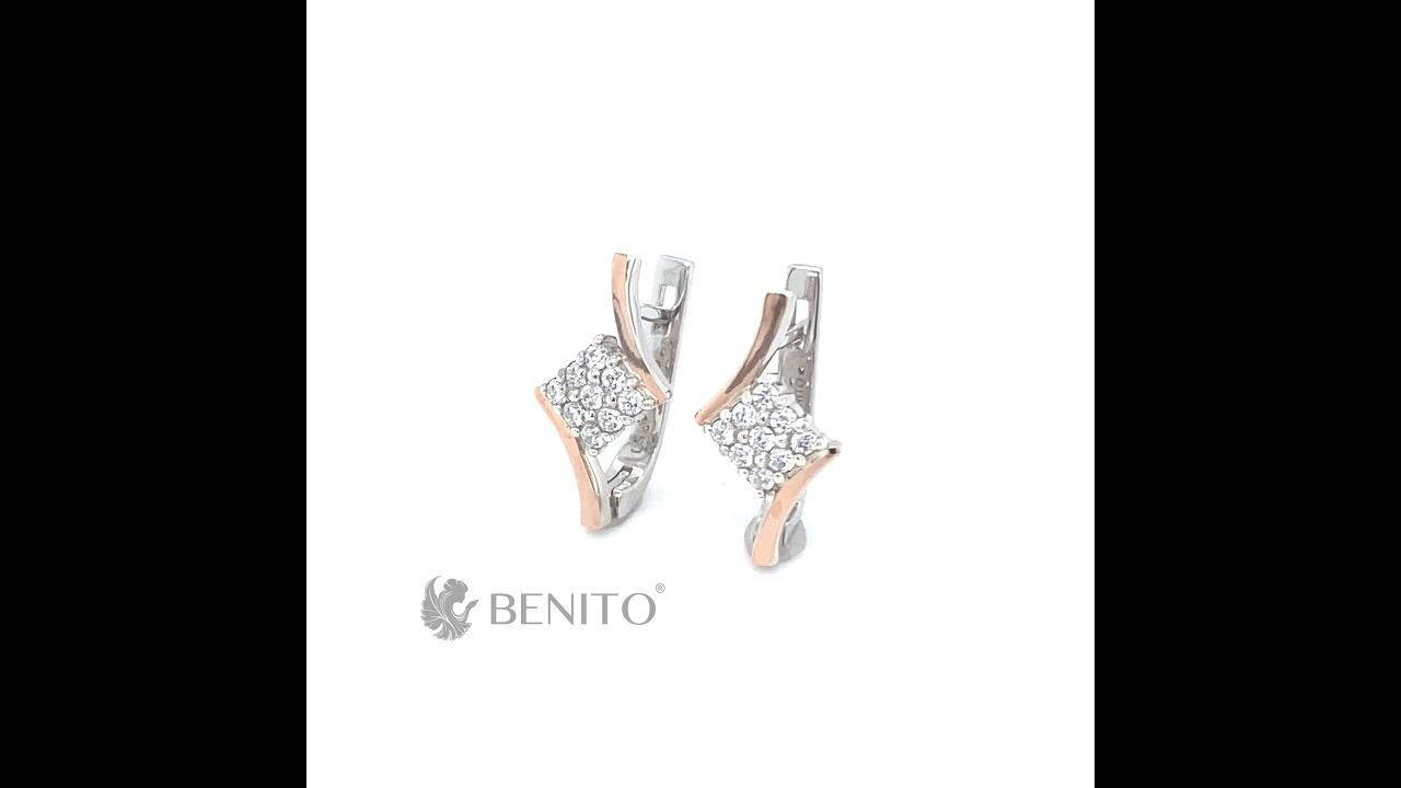 Patience Earrings White Zircon Stones