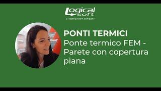 Ponte termico FEM - Parete con copertura piana