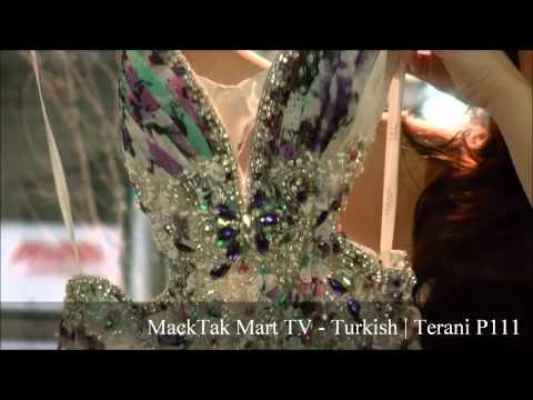 MackTak™ Mart.com   Terani P111 Cicek Desenli Uzun Seksi Gece Elbisesi