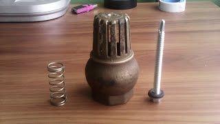 Fabricar válvula para golpe de ariete