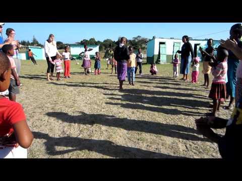 Zulu Children Dancing in St. Lucia, South Africa