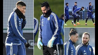 Manchester United pair use City's training ground on Argentina duty