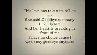 THIS LOVE - Maroon 5 letra