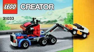 LEGO 31033 Vehicle Transporter Tow Truck Instructions LEGO CREATOR 3 in 1 2015