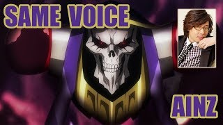 Same Anime Characters Voice Actor with Overlord's Ainz Oal gown/momonga