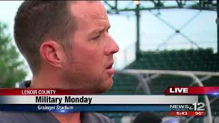 Jonathan Clemmons interviewed by Donnie Cox about Military Monday