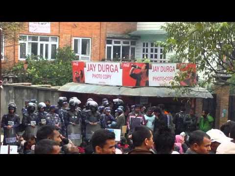 Protest in Kathmandu Nepal