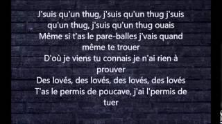 Lacrim parole j'suis qu'un thug lyrics 2014