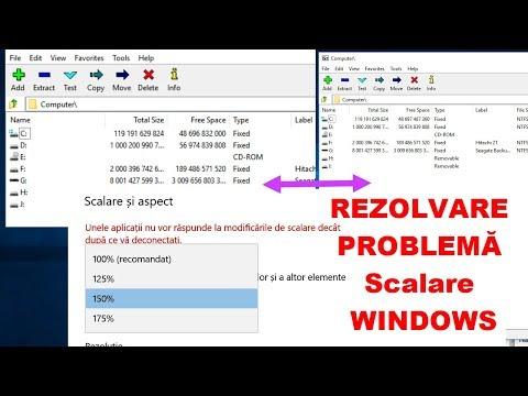 REZOLVAREA PROBLEMEI DE SCALARE PE WINDOWS ( text și grafica blurate în unele aplicații)