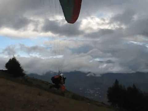 Paragliding in Baños, Ecuador