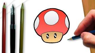 Como desenhar um cogumelo de Super Mario Bros