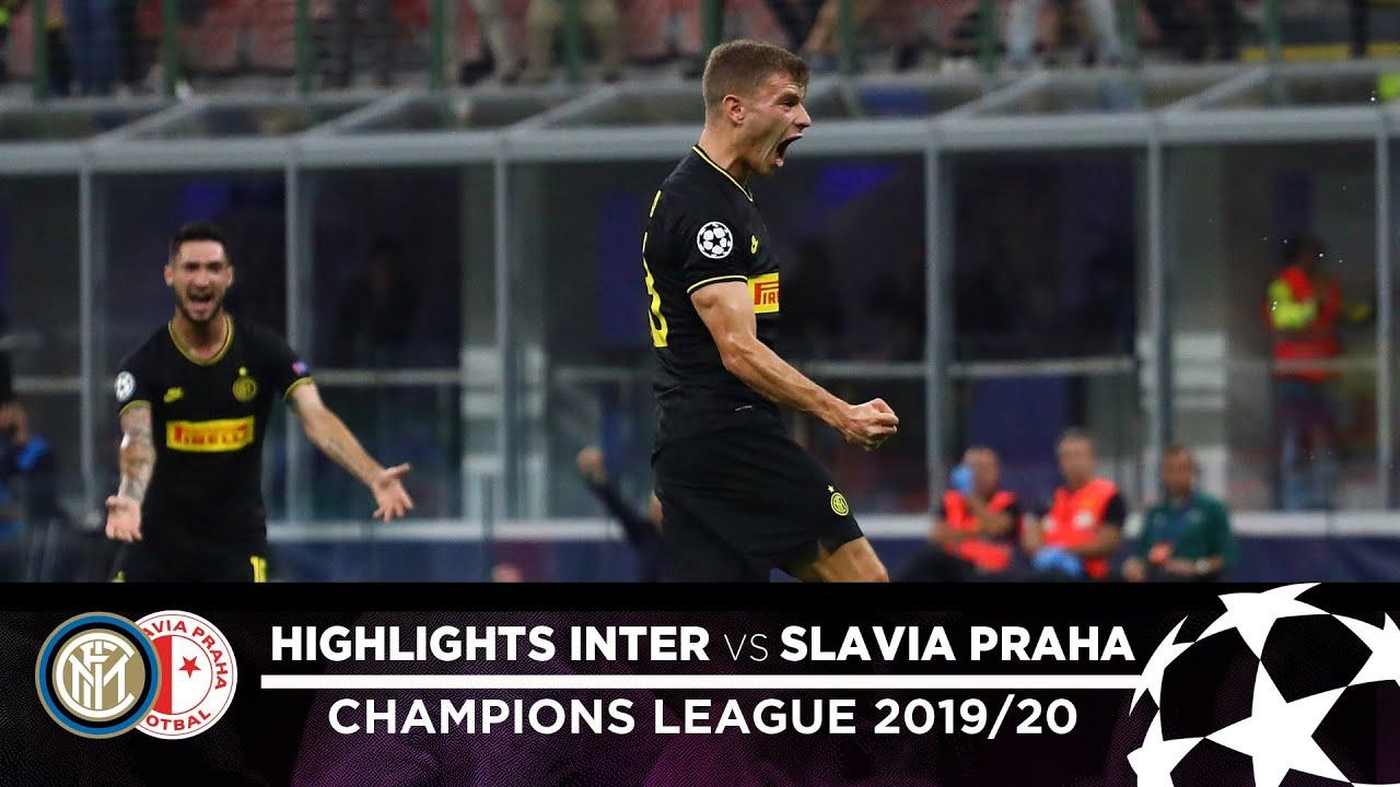 inter 1-1 slavia praha highlights