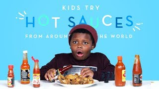 Kids Try Hot Sauces from Around the World   Kids Try   HiHo Kids