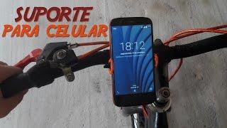 Como fazer um suporte para celular caseiro(coloque o celular na bicicleta)
