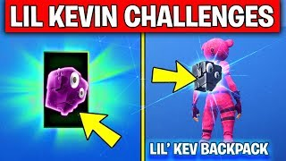 Fortnite LIL KEVIN CHALLENGES! - UNLOCK NEW Lil Kev Back Bling (Fortnite Battle Royale)