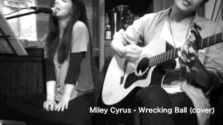 Miley Cyrus - Wrecking Ball (cover) acoustic live