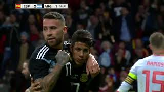 Spain 6 1 Argentina All goals & Highlights Commentary Friendly Match