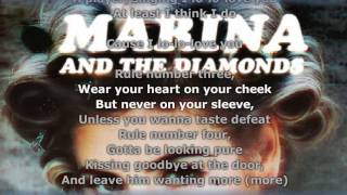 MARINA AND THE DIAMONDS - HOW TO BE A HEARTBREAKER //LYRICS