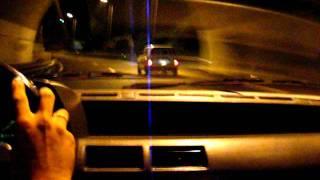 Corrida na via rapida da Madeira - fiat uno acidente