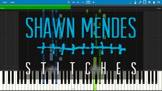 Shawn Mendes - Stitches - Piano Cover / Tutorial with Sheet Music