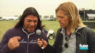 Metallica Gives Foo Fighter Tour of Orion Music Festival