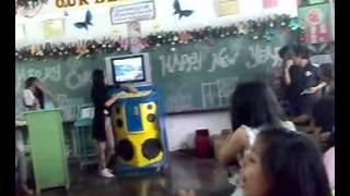 Christmas party with my students(sayaw ug budots)