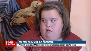 Copii cu greutate: Andrei, Denisa și Mădălina nu-și permit dieta care îi poate salva