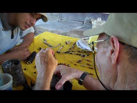 Making jewelry in Nicaragua