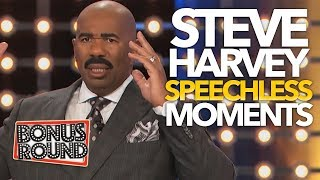 10 STEVE HARVEY SPEECHLESS Moments & Answers On Family Feud 😂 | Bonus Round