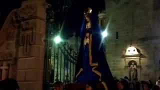 Procesión del Silencio. Iglesia de Santiago, Puebla Capital.